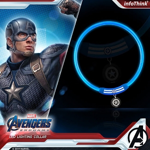 infothink AVENGERS - ENDGAME Series LED Lighting Collar (Captain America)