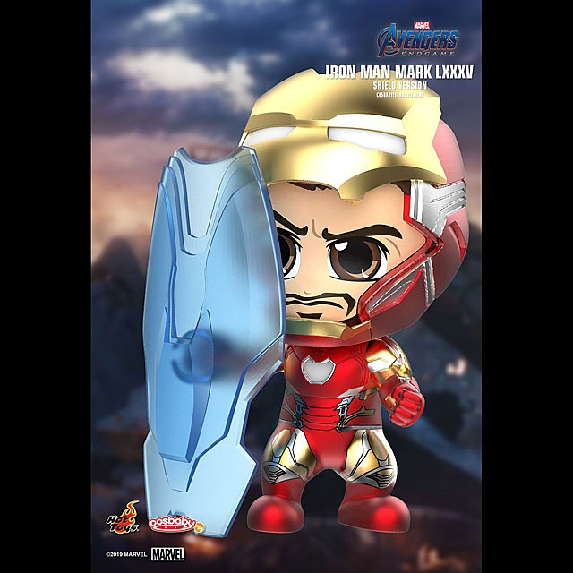 Hot Toys Avengers Endgame - Iron Man Mark LXXXV Shield Version Cosbaby (S) Bobble-Head