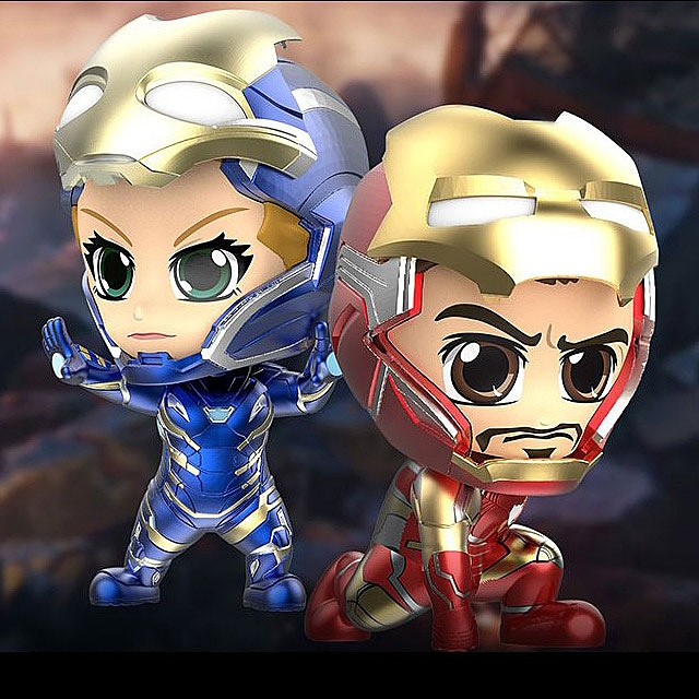 Hot Toys Avengers Endgame - Iron Man Mark LXXXV & Rescue Unmasked Version Cosbaby (S) Bobble-Head