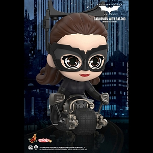 Hot Toys The Dark Knight Rises - Catwoman with Bat-Pod Cosbaby (S) Bobble-Head