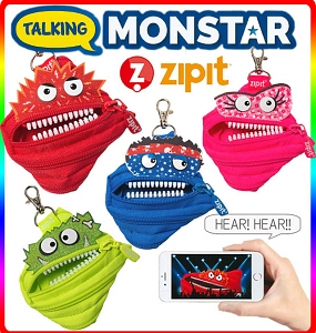 Zipit Talking Monstars Coin Purse