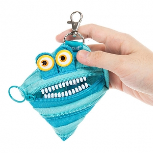 Zipit Wildling Monster Coin Purse - Blue