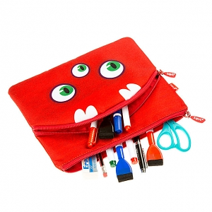 Zipit Wildling Monster Slim Pouch - Red