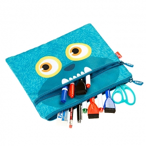 Zipit Wildling Monster Slim Pouch - Blue