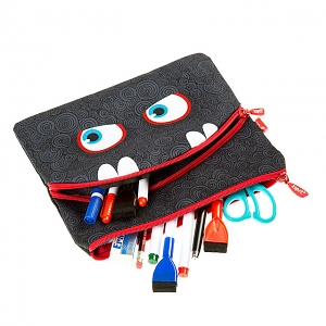 Zipit Wildling Monster Slim Pouch - Black