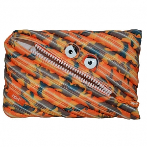Zipit Camo Monster Jumbo Pouch - Orange Camouflage