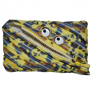 Zipit Camo Monster Jumbo Pouch - Yellow Camouflage