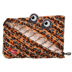 Zipit Prints Monster Jumbo Pouch - Tiger Orange