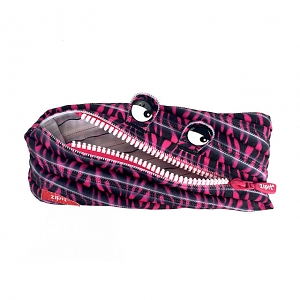 Zipit Prints Monster Pouch - Zebra Pink