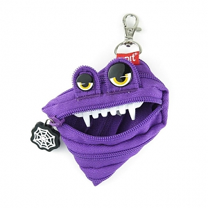 Zipit Monster Halloween Mini Pouch - Purple