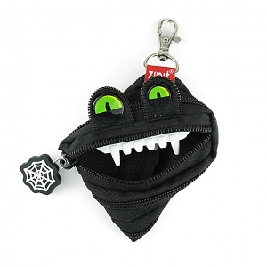Zipit Monster Halloween Mini Pouch - Black