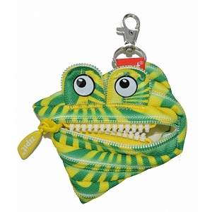 Zipit Prints Monster Coins Bag - Abstract Green & Yellow