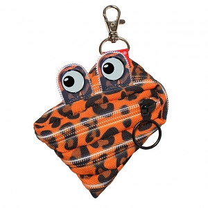 Zipit Prints Monster Coins Bag - Tiger Orange