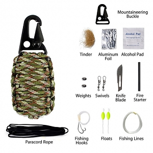 12-in-1 Outdoor Survival Emergency Kits