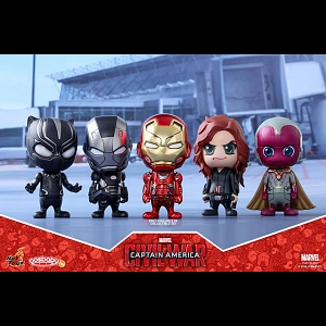 Hot Toys Captain America 3 Civil War - Team Iron Man Cosbaby Bobble-Head Collectible Set