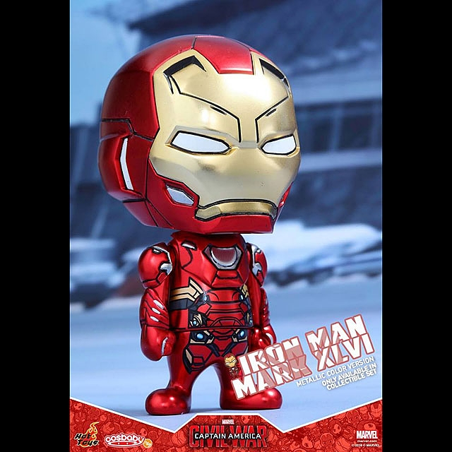 Hot Toys Captain America Civil War Iron Man XLVI Cosbaby Metallic color Marvel