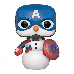 Funko POP Marvel Holiday - Captain America # 532 Figure