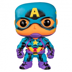 Funko POP Marvel Black Light - Captain America #648 Figure