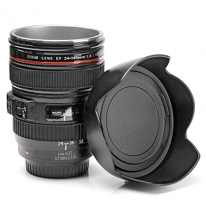 Lens EF 24-105mm f/4L IS USM Metallic Mug with Flower Petal Lid