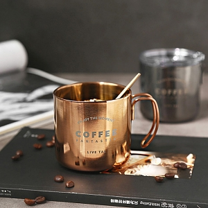 Double Stainless Steel Coffee Cup