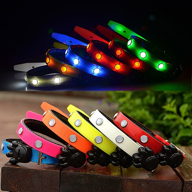 Crystal TPU LED Dog Collar