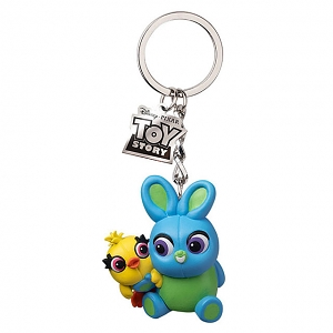 Beast Kingdom Toy Story 4 Series Keychain - Ducky & Bunny