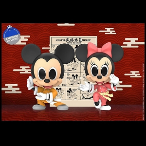 Hot Toys Kung Fu Mickey and Minnie Cosbaby (S) Bobble-Head
