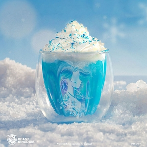 Beast Kindom Frozen II - Elsa Double-Layer Glass Cup