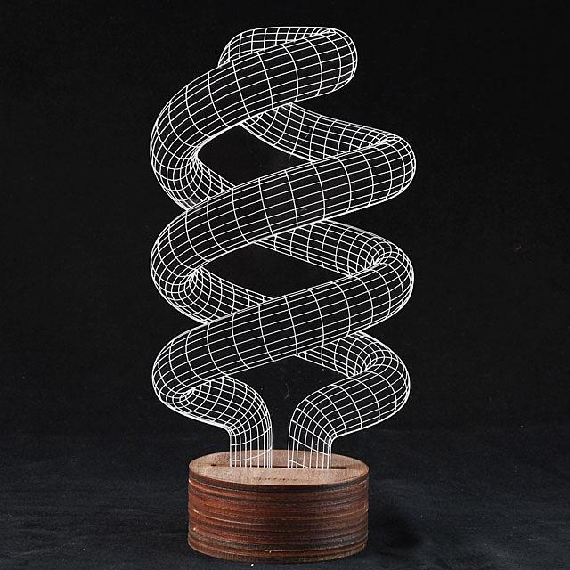 3d Spiralism Night Lamp