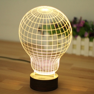 3D Bulb Night Lamp