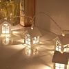 10-LED Wooden House Decor Lights