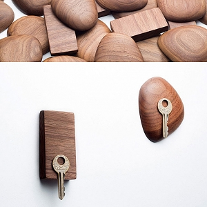 Walnut Magnetic Key Holder