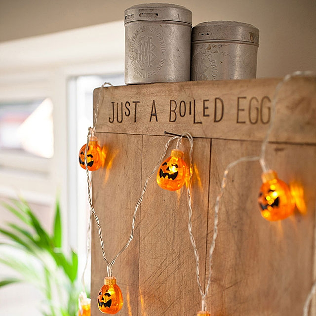 Halloween Pumpkin 20-LED Decor Lights