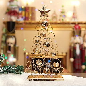 Golden Christmas Bell Tree