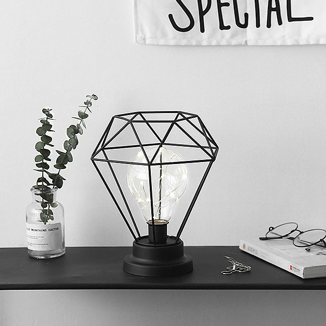 Simple Iron Diamond Lamp