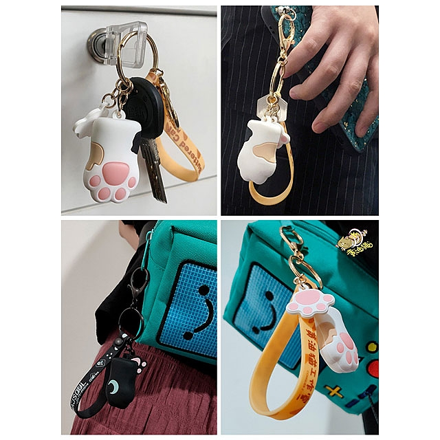 Cute Paw Illuminated Keychain