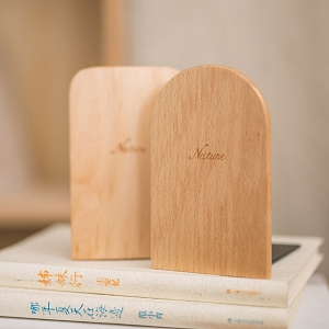 Beech Wood Bookends