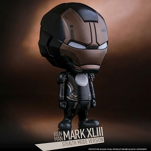 Hot Toys Iron Man Mark XLIII (Stealth Mode Version) Cosbaby (S) Bobble-Head Set