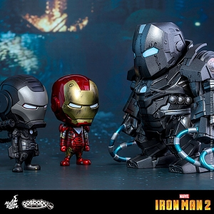 Hot Toys Iron Man 2 Cosbaby (S) Bobble-Head Set