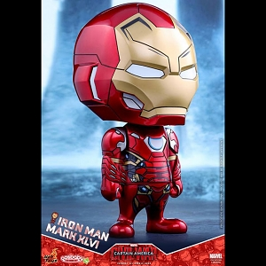 Hot Toys Iron Man Mark XLVI Cosbaby (L) Bobble-Head