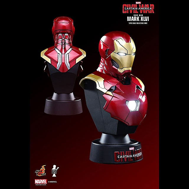 Hot Toys Iron Man Mark XLVI 1/6th Scale Collectible Mini Bust