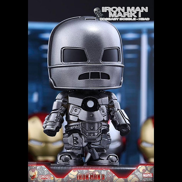 Hot Toys Iron Man Mark I-VII Cosbaby Bobble-Head Series Collectible Set