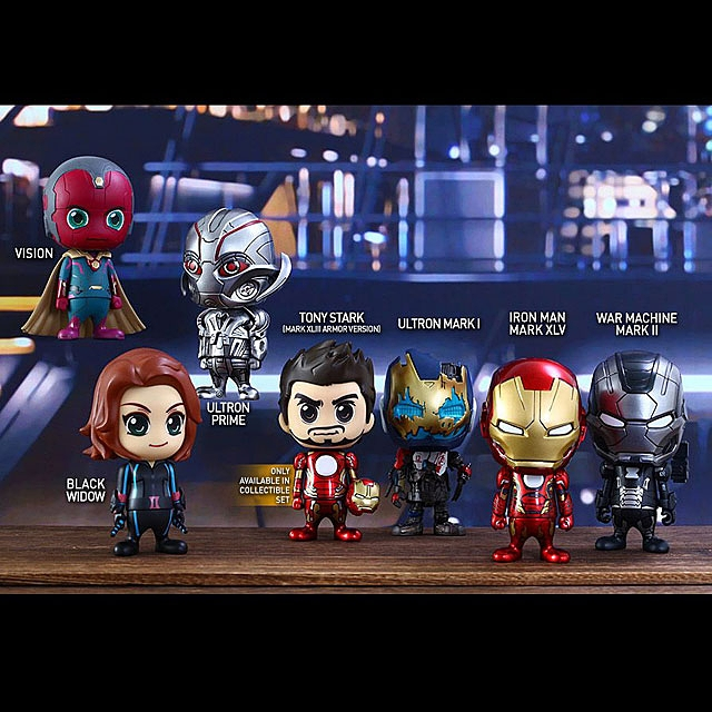 Hot Toys Avengers Age of Ultron (Series 2) Cosbaby (S) Bobble-Head Set