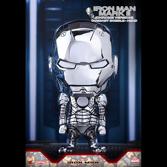 Hot Toys Iron Man Mark II (Chrome Version) Cosbaby Bobble-Head