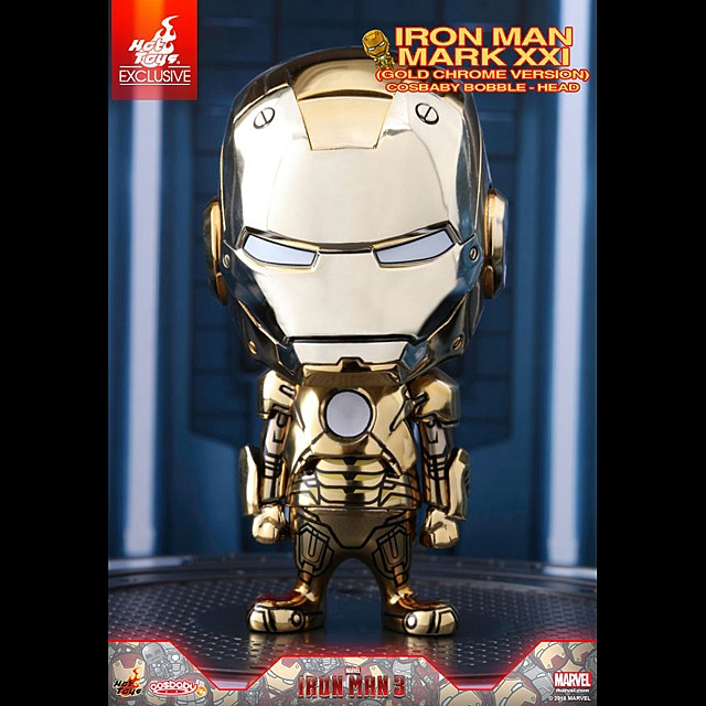 Hot Toys Iron Man Mark XXI (Gold Chorme Version) Cosbaby Bobble-Head