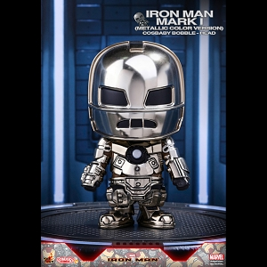 Hot Toys Iron Man Mark I (Metallic Color Version) Cosbaby Bobble-Head