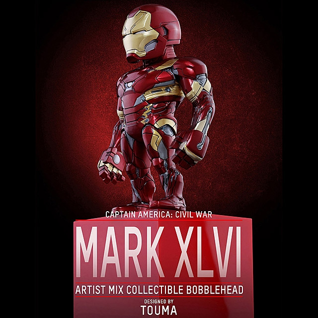 Hot Toys Iron Man Mark 46 Artist Mix Bobble-Head Figure
