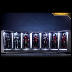 Hot Toys Iron Man 3 Iron Man Hall of Armor Miniature Collectible