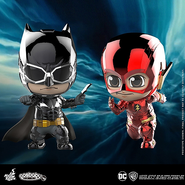 Hot Toys Justice League - Batman & The Flash (Metallic Color Version) Cosbaby (S) Collectible Set