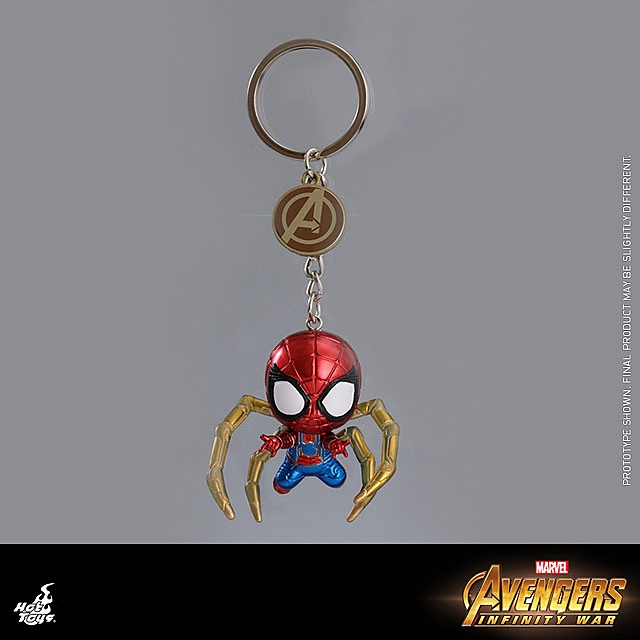 Hot Toys Avengers Infinity War  Iron Spider Man Cosbaby Key Chain In Stock